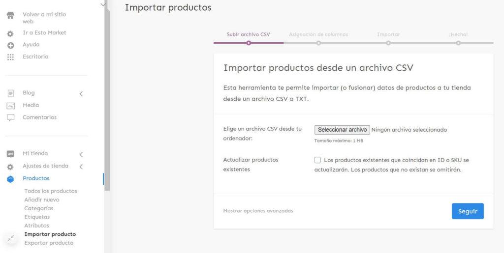 Importación de productos